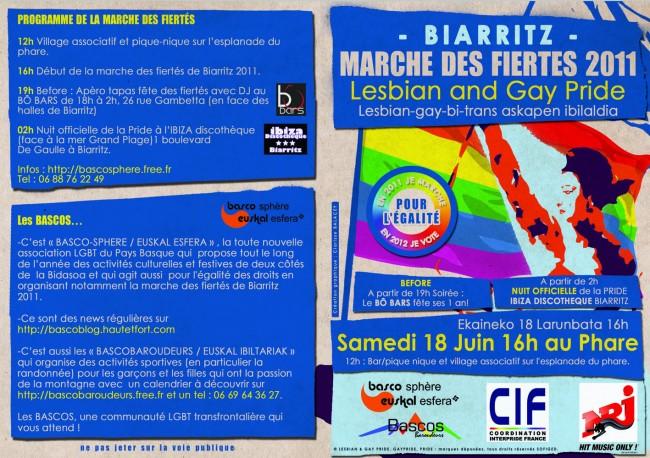 lesbian gay pride, marche des fiertés, biarritz, basco-sphère