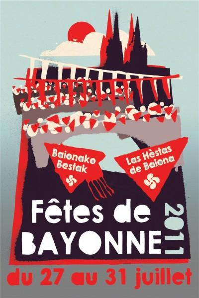 affiche, fêtes, bayonne, pays basque