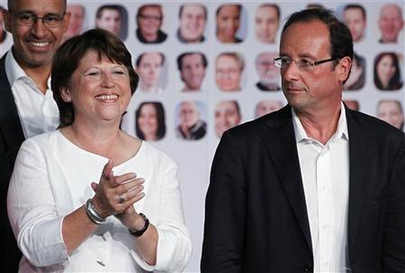 primaires socialistes, aubry, hollande